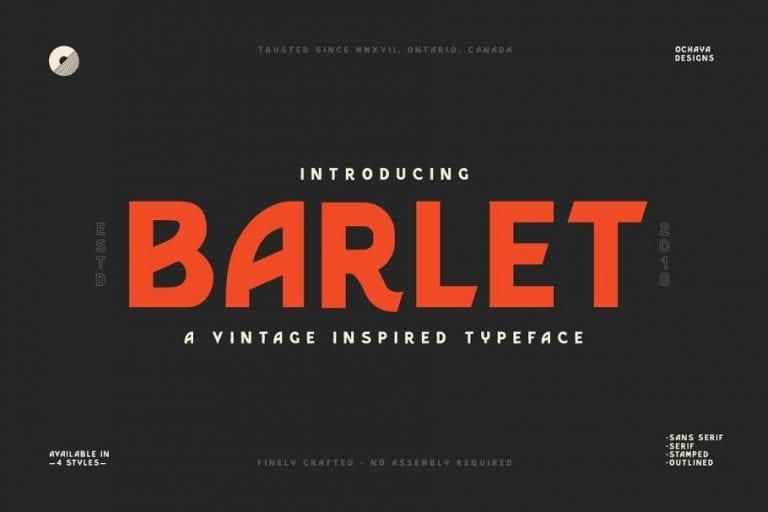 Barlet Font - A Vintage Inspired Typeface
