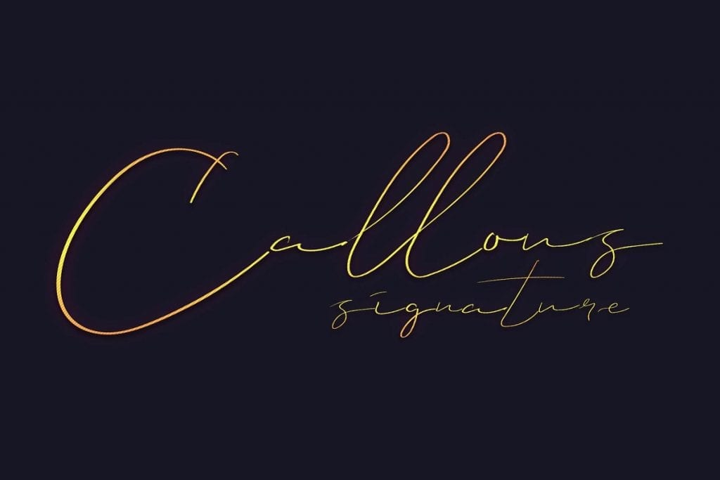 Callous Signature Font 1
