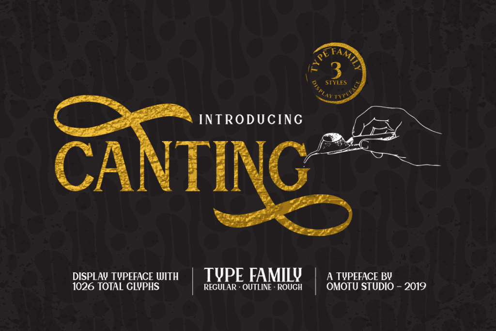 Canting Typeface Font 1