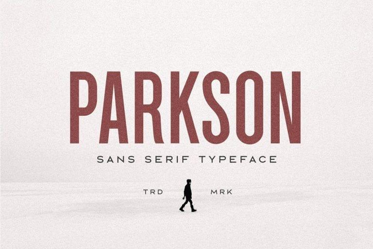 Parkson Sans Serif Typeface Fonts