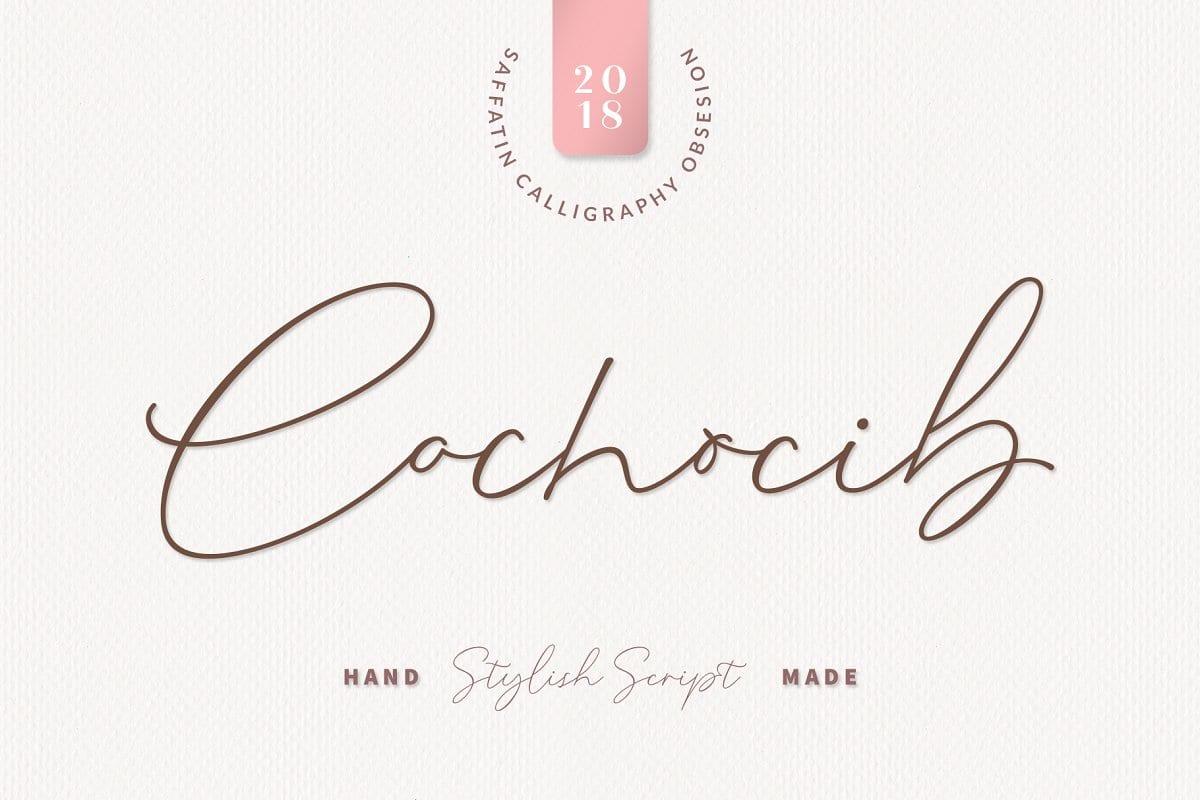 Cochocib Script Font