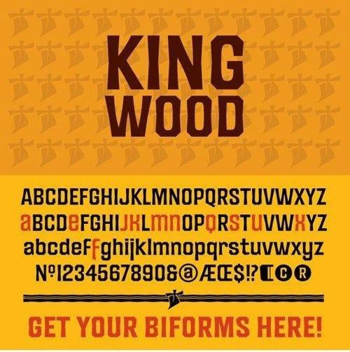 King Wood Font