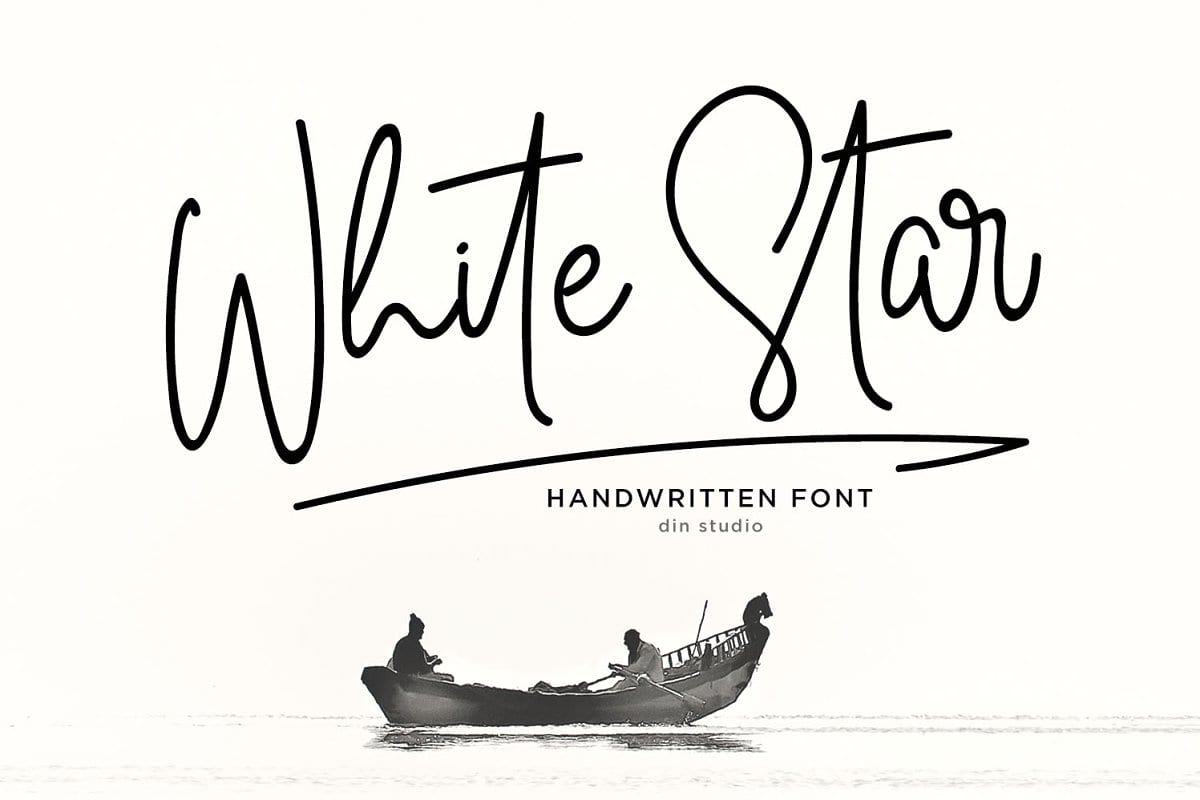 White Star Handwritten Font
