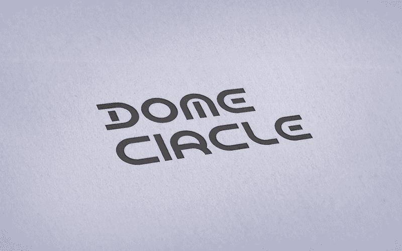 Dome Circle Font