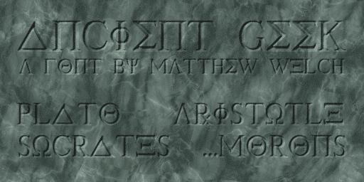 Ancient Geek Greek Font Generator
