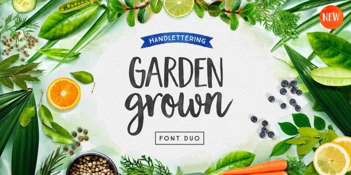 Garden Grown Caps Font Free Download