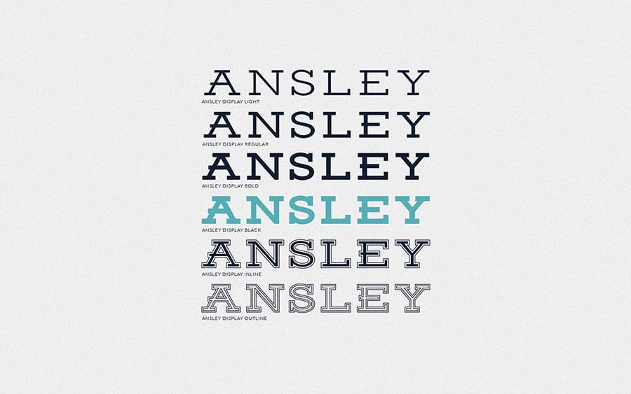 Ansley Display Font