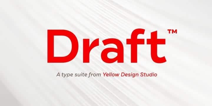 Draft Font Family