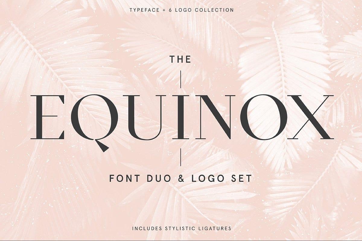 Equinox Font Duo