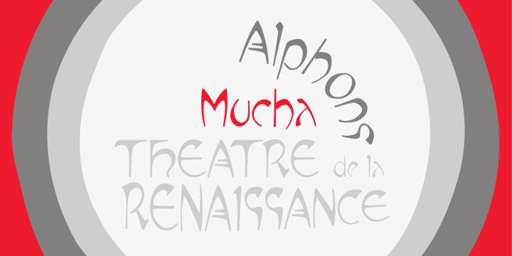 P Mucha Font