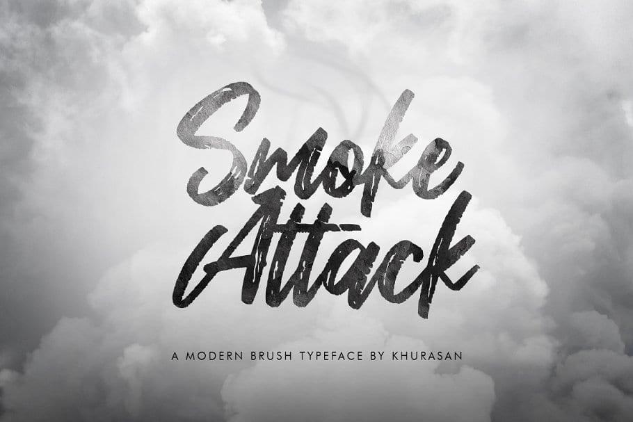 Smoke Attack Brush Font