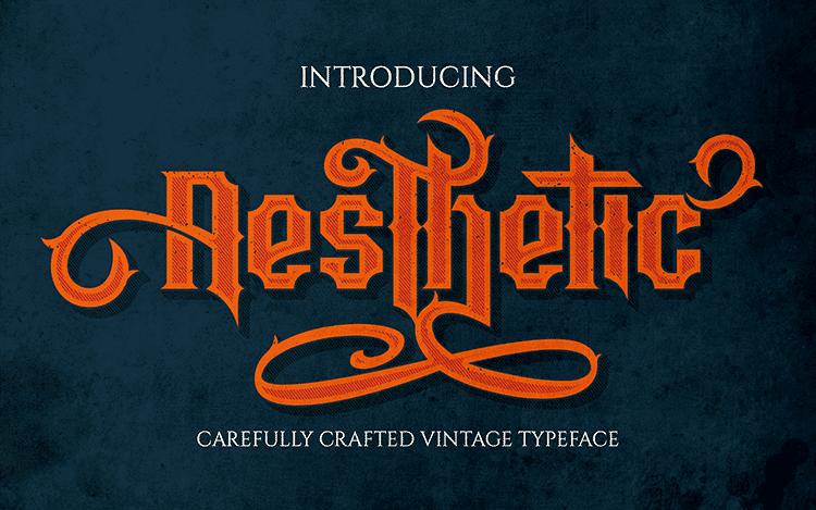 Aesthetic Typeface