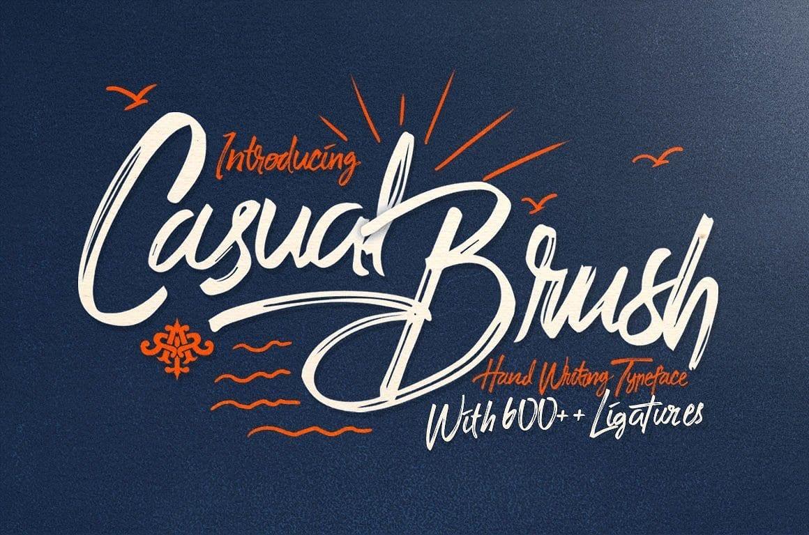 Casual BrushSwash Font