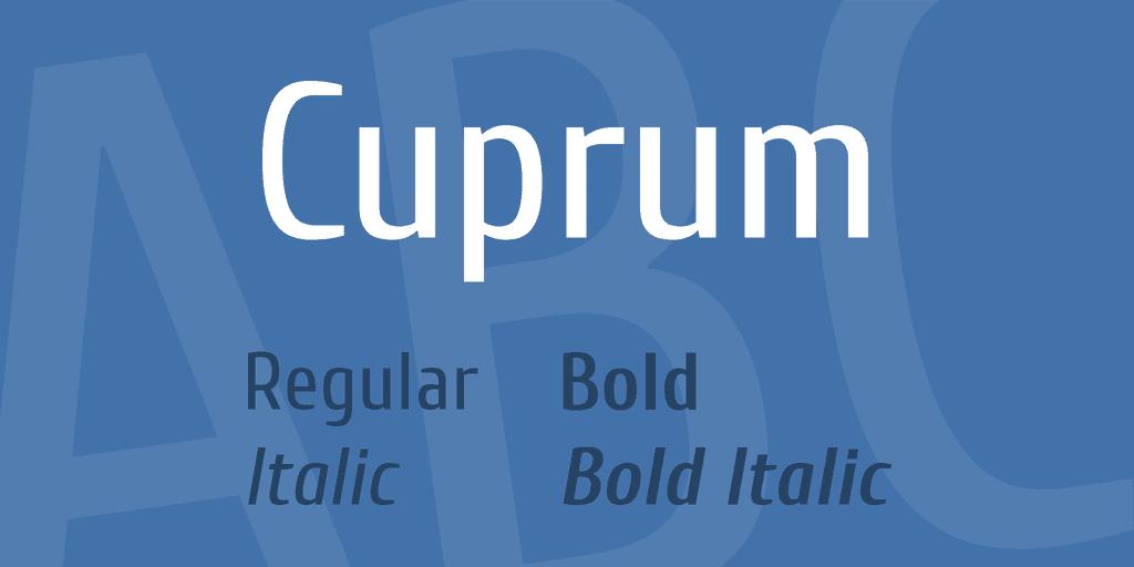 Cuprum Font Family