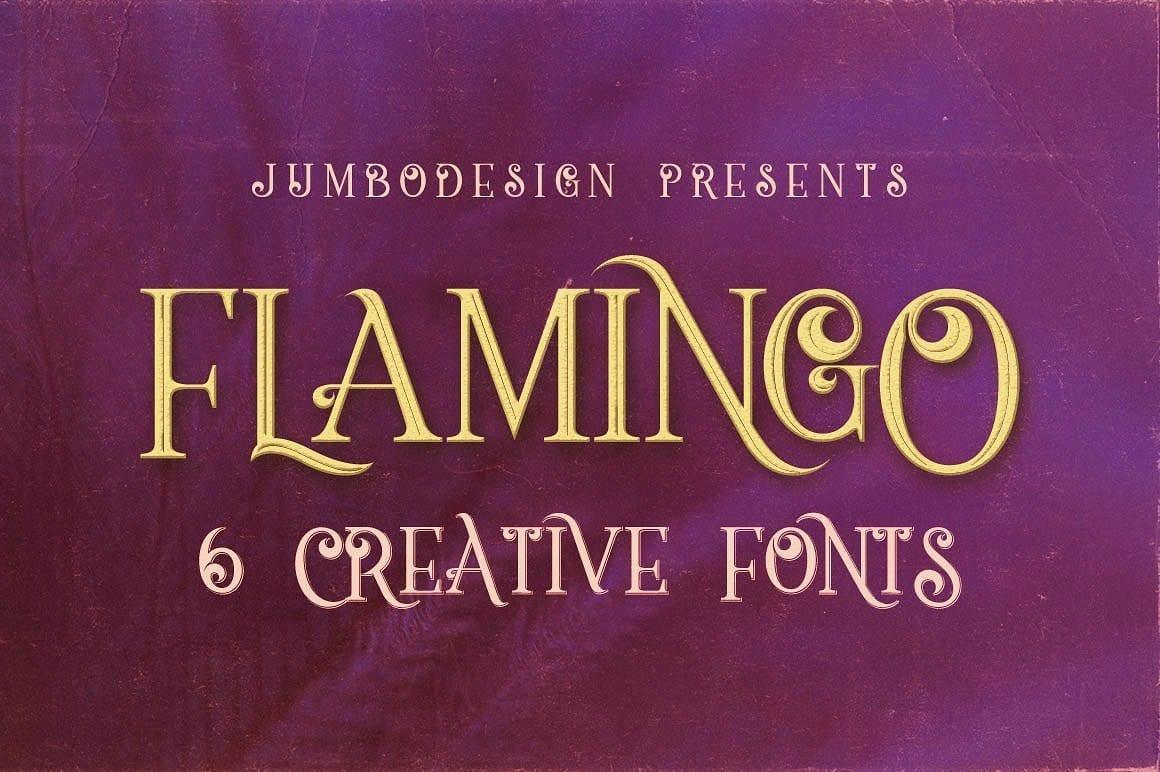 Flamingo Vintage Style Font