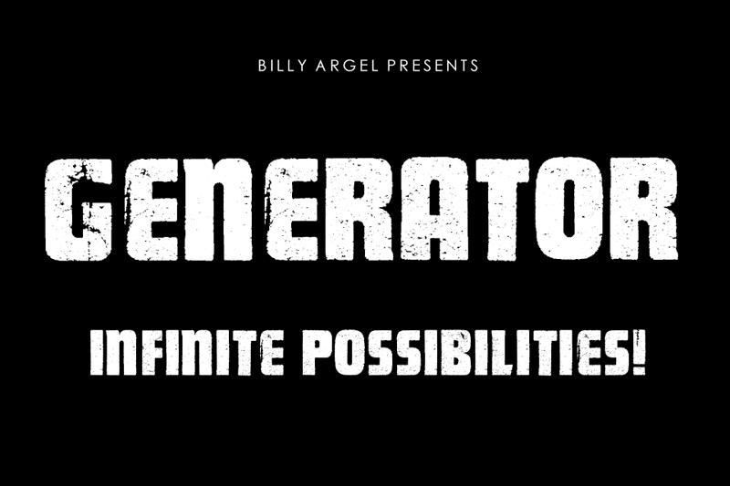 Generator Font