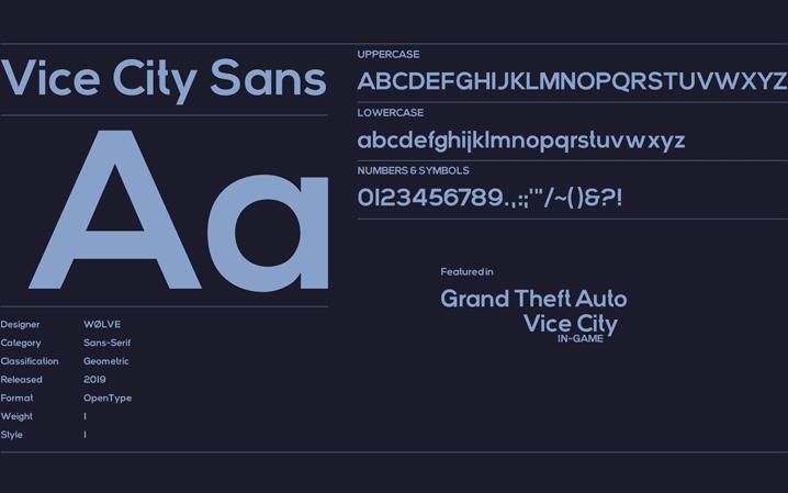 Vice City Sans Font