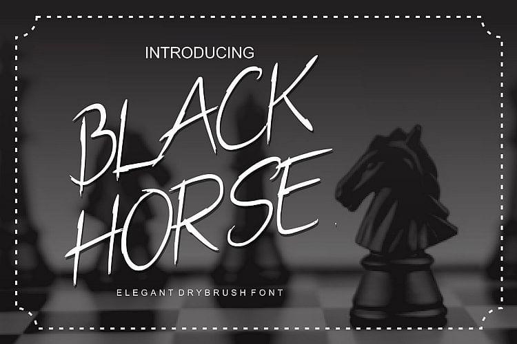 Black Horse Handwritten Font