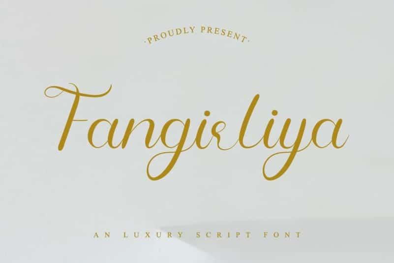 Fangirliya Script Font