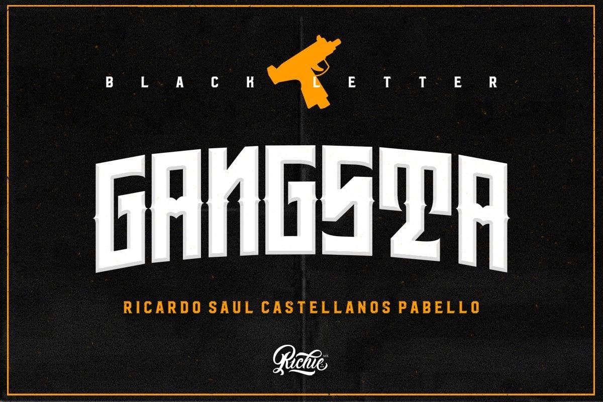Gangsta Display Font