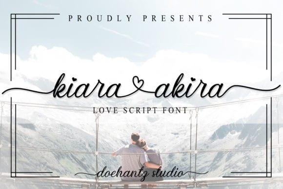 Kiara Akira Calligraphy Font