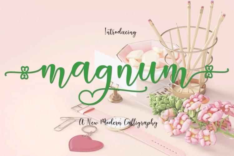 Magnum Script Font