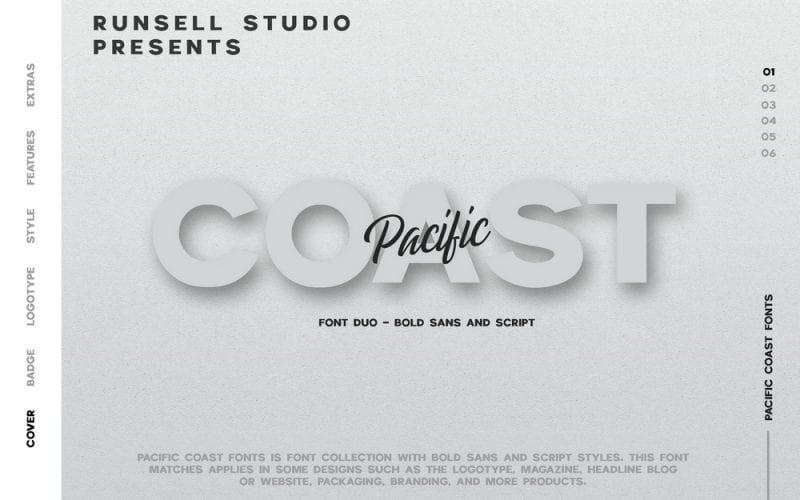 Pacific Coast Font Duo
