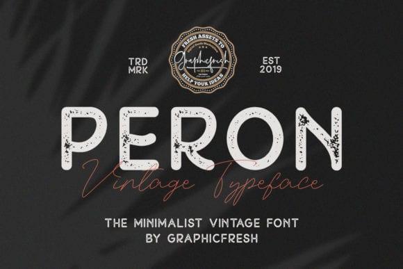 Peron Vintage Font