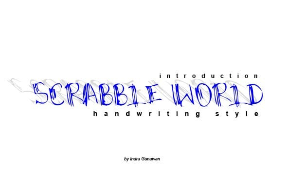 Scrabble World Script Font