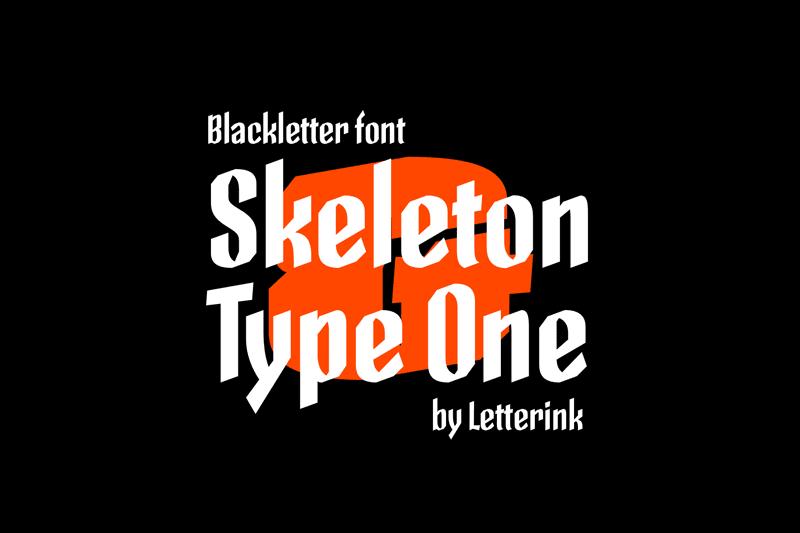 Skeleton Type One Poster Font