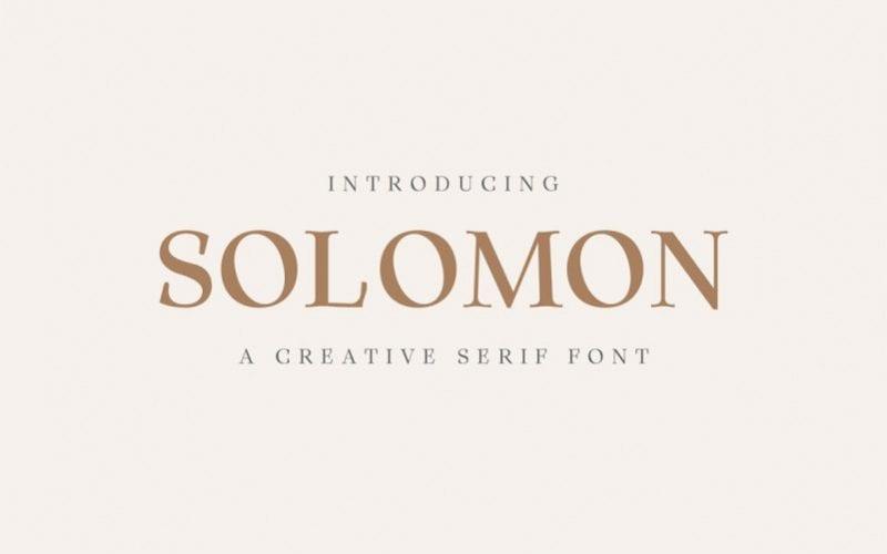 Solomon Serif Free Font Family