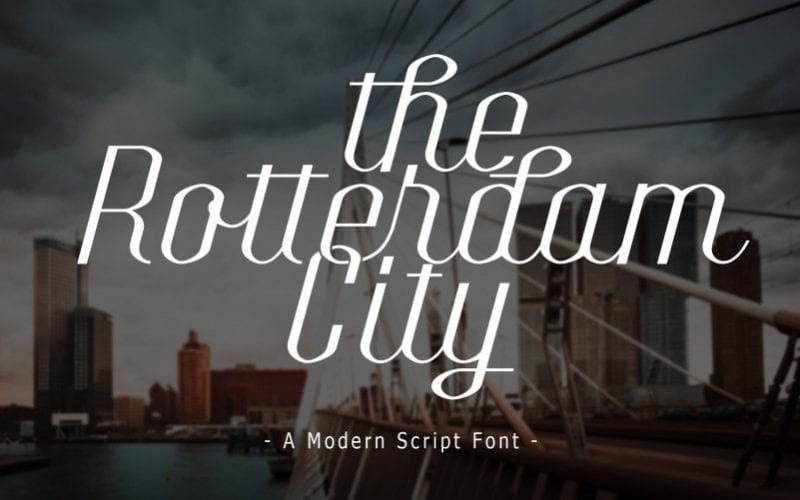 The Rotterdam City Script Font