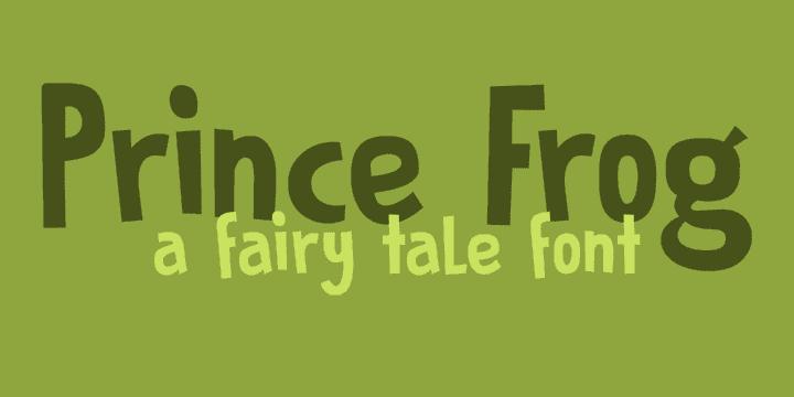 DK Prince Frog Font