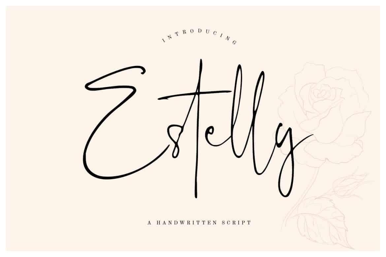 Estelly Stylish Signature Font
