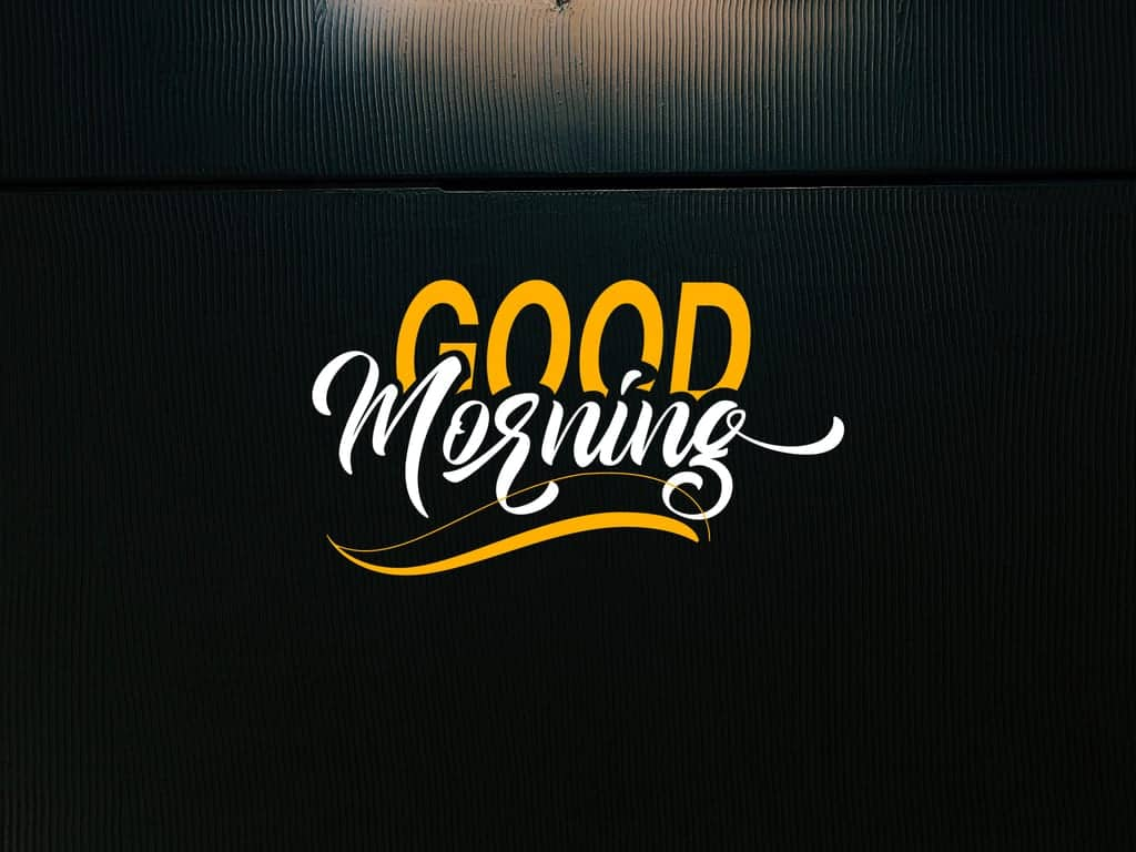 Good Morning Calligraphy Font