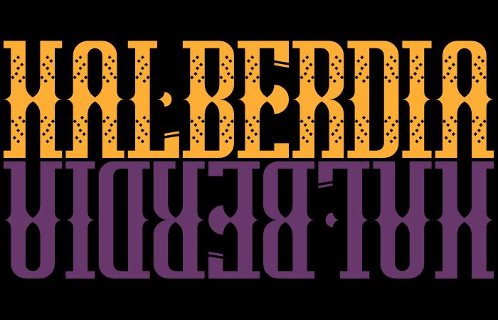 Halberdia Plain Font