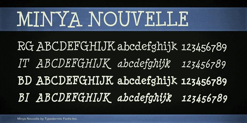 Minya Nouvelle Font