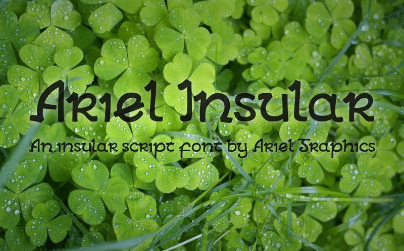 Ariel Insular Font