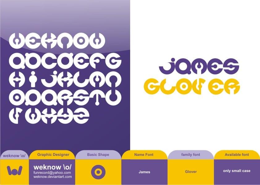 James Glover Font