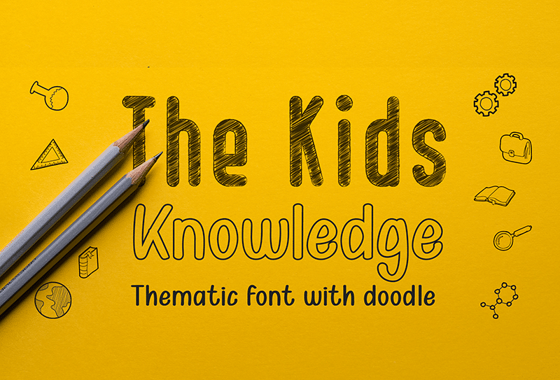 Kid Knowledge Clipart Font