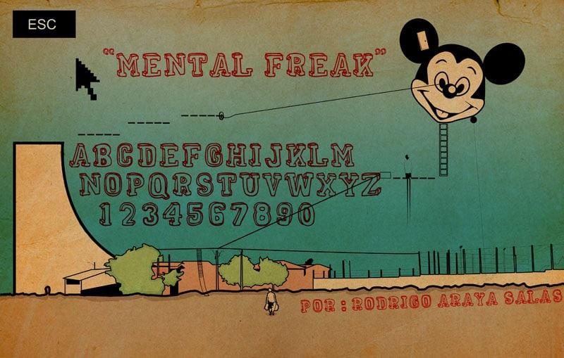 Mental Freak Font