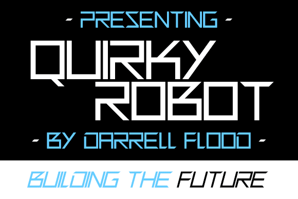 Quirky Robot Font