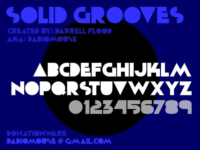 Solid Grooves Font
