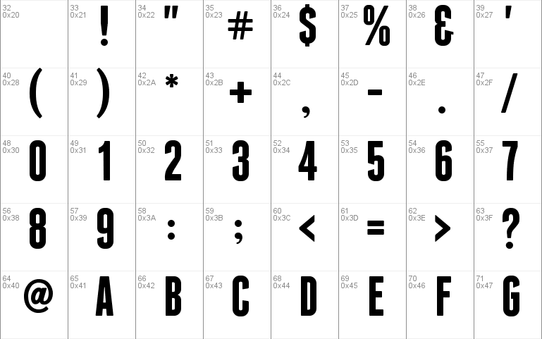 Franchise Free Font