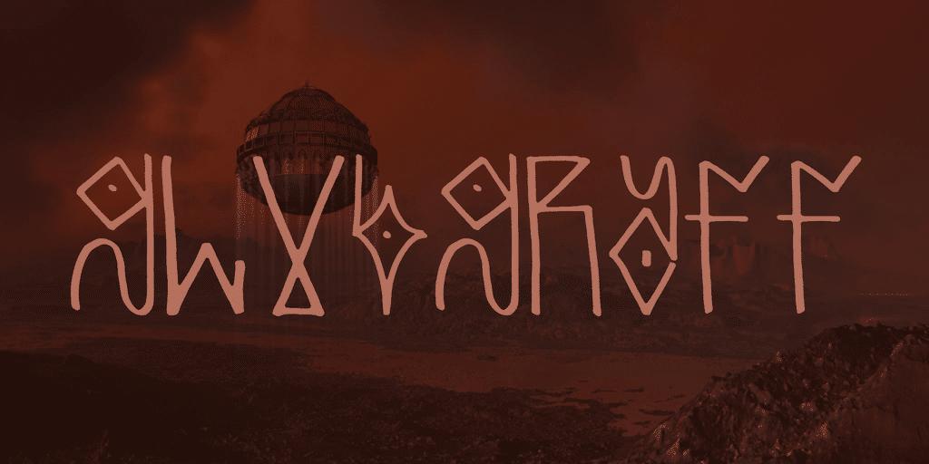 Glubgraff Alien Font