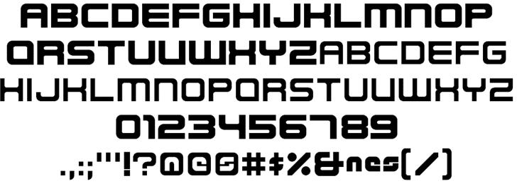 Nes Logo Font