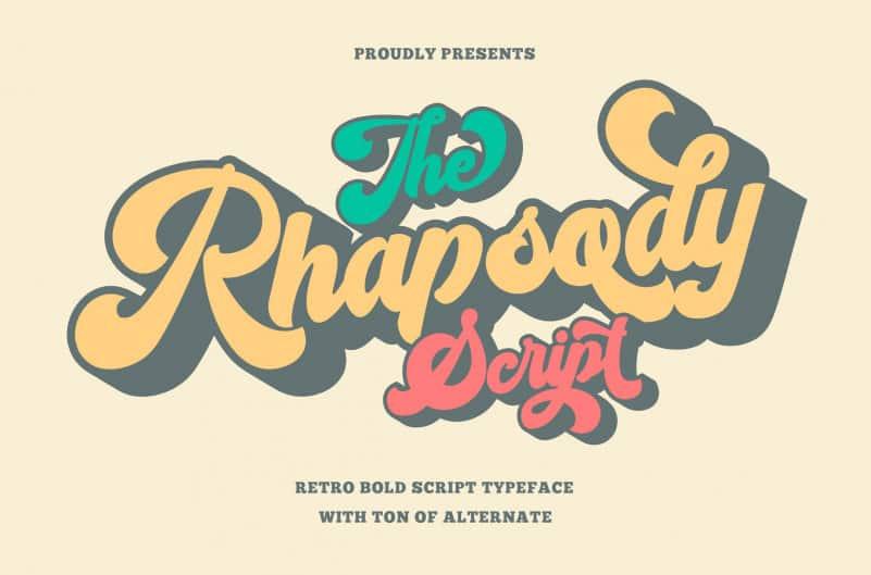 Rhapsody – Bold Script Typeface