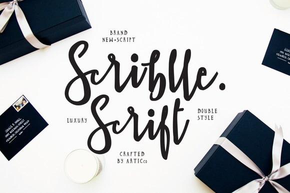 Scriblle Script Std Font