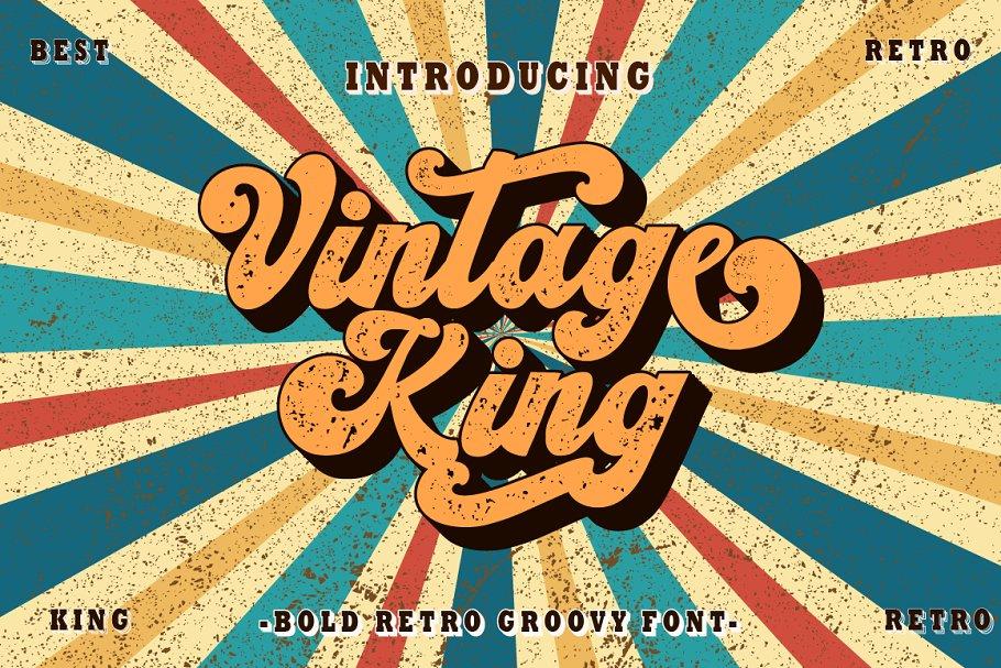 Vintage King Script Font
