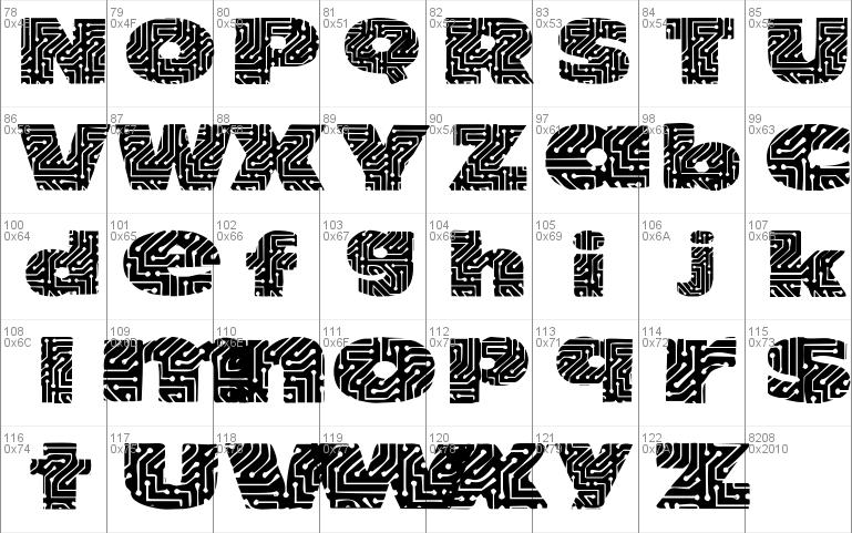 Circuit Board Font
